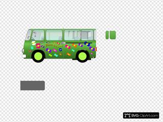 Green Peace And Love Mini Van