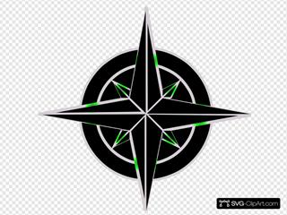 Navigation Symbol Black And Green