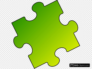Yellow-green Puzzle Piece - Small