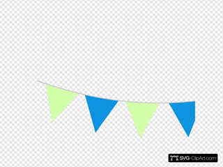 Bunting Blue And Green
