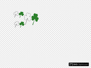 Group Of Shammrocks SVG Clipart
