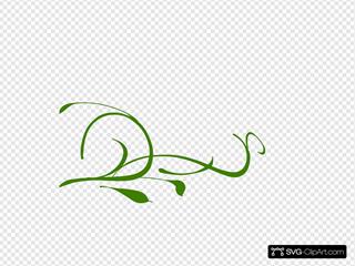 Green Leaves Swirl