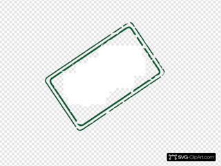 Green Rectangle Stamp