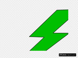Green Lighting Bolt