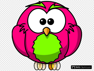 Magenta And Lime Hoot Surprised