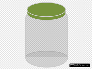 Plain Dream Jar Dark Green Clipart