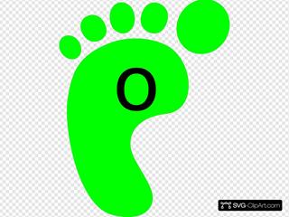 Left Footprint Green O