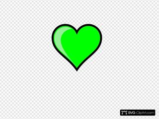Neon Green Bubble Heart