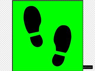 Green Shoe Print