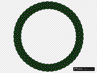 Green Celtic Knot - 4 Braid