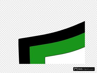Balck And Green  White Shield