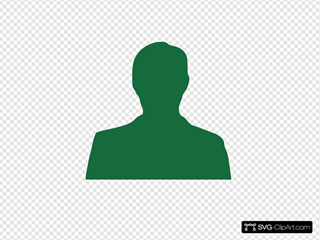 Green Man Silhouette