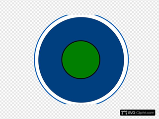 Glossy Home Icon Button With Center Green