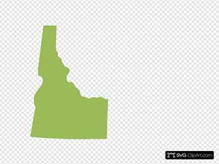 Idaho Shape - Green
