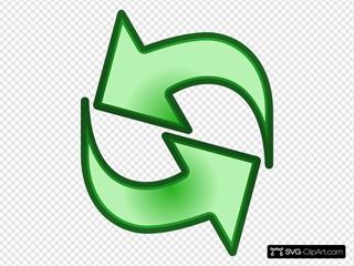 Interlocking Arrows Green