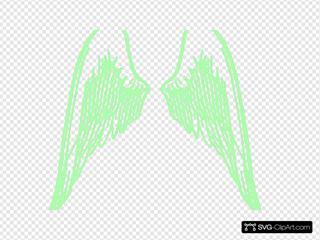 Green Angel Wings