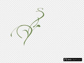 Scroll Floral 6c8b4b Green