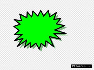 Green Explosion Blank Pow