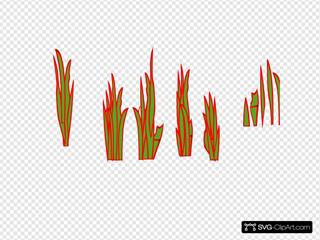 Green Red Grass