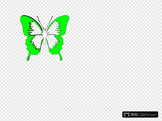 Blue Butterfly22 SVG Clipart