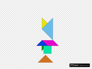 Tangram-02 SVG Clipart