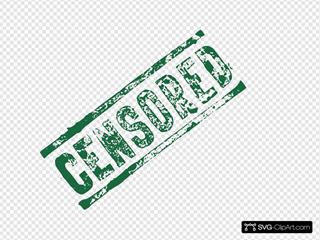 Green Censored Stamp