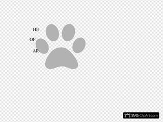 Grey Paw With Quote