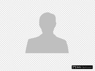 Silhouette-male-grey SVG Clipart