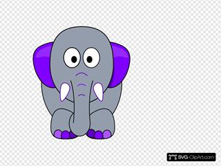 Grey Elephant, Purple Accents