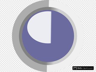 Dark Dark Grey Led Circle