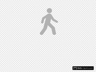 Walking Man Grey