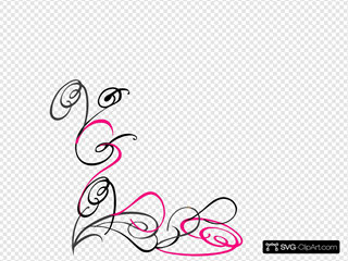 Decorative Swirl Pink Grey
