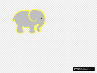 Grey Elephant SVG Clipart