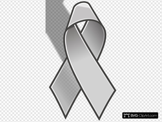 Grey Cancer Ribbon