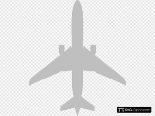 Plane Silhouette Grey