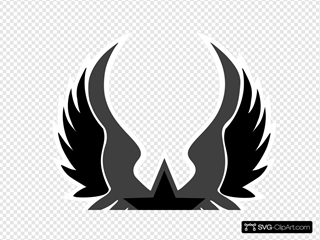 Black And Grey Star Emblem