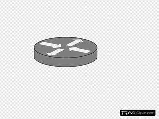 Grey Router Icon