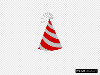 Red And Grey Party Hat
