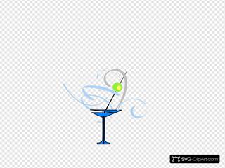 Martini Glass Blue/grey