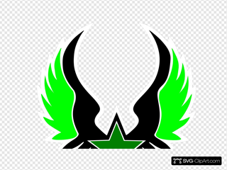 Green Grey Star Emblem