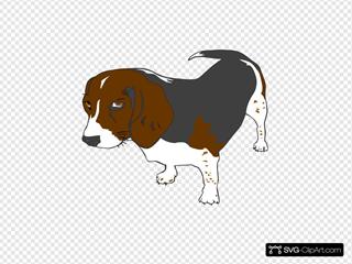 Beagle Dog SVG Clipart