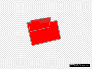 Red And Grey Folder