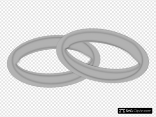 Light Grey Wedding Bands SVG icons