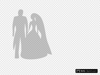 Grey Bride And Grrom
