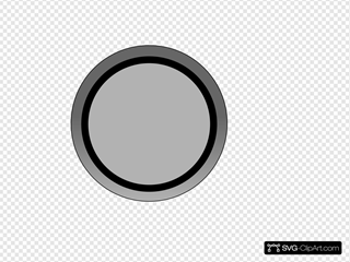Grey Button SVG Clipart