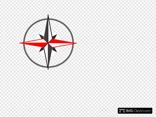 Red Grey Compass 268 SVG Clipart