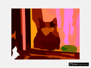 My Neighbours Cat Is Startled Vector Contrast Colour Enhance Revector