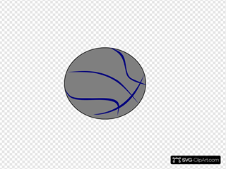 Grey Blue Basketball