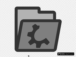 Semi Open Folder Icon