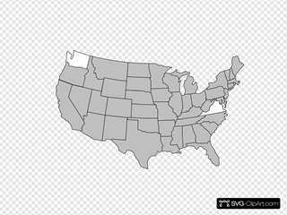 Highlighted United States Map